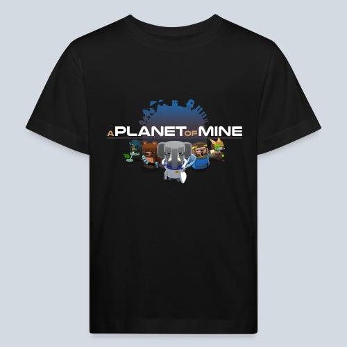 logo planetofmine dark HD - T-shirt bio Enfant