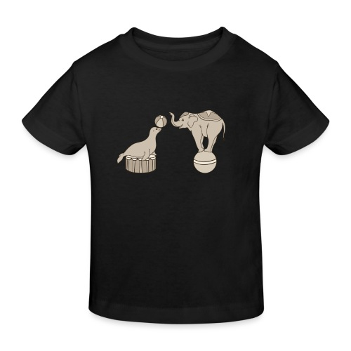 Circus elephant and seal - Kids' Organic T-Shirt
