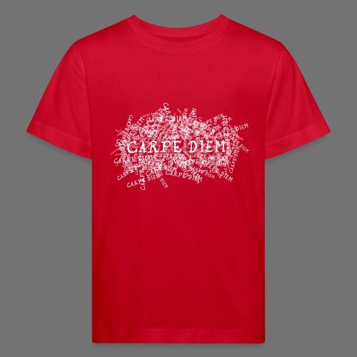 carpe diem (biały) - Ekologiczna koszulka dziecięca