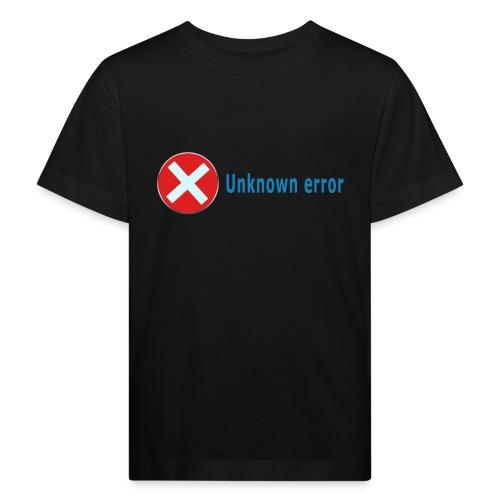 Unkown Error - Lasten luonnonmukainen t-paita