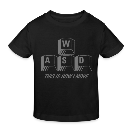 T-shirt Premium, WASD This is how I move - Ekologisk T-shirt barn