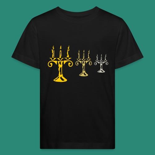 edles Kerzenlicht - Kinder Bio-T-Shirt