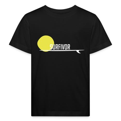 Surfivor surf logo met zon - Kinderen Bio-T-shirt