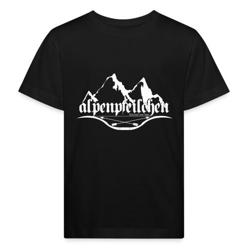 Alpenpfeilchen - Logo - white - Kinder Bio-T-Shirt