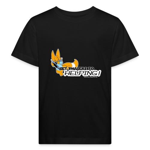 Set Phasers to Helping - Kids' Organic T-Shirt