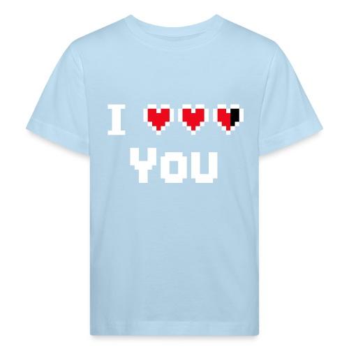 I pixelhearts you - Kinderen Bio-T-shirt