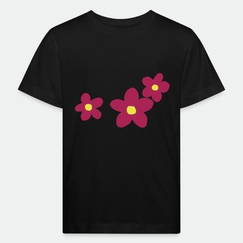 Three Flowers - Kids' Organic T-Shirt