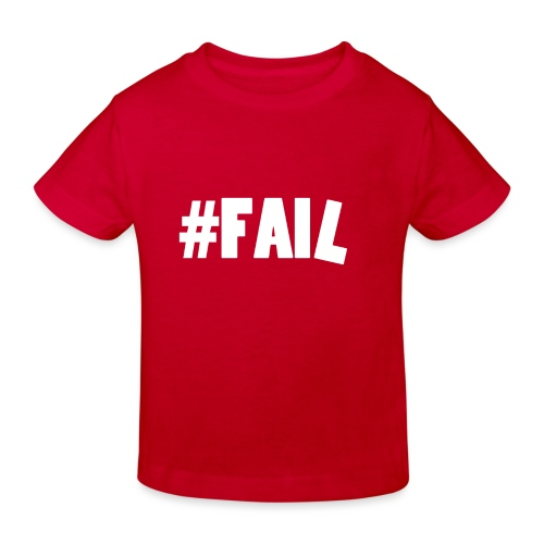 FAIL / White - T-shirt bio Enfant
