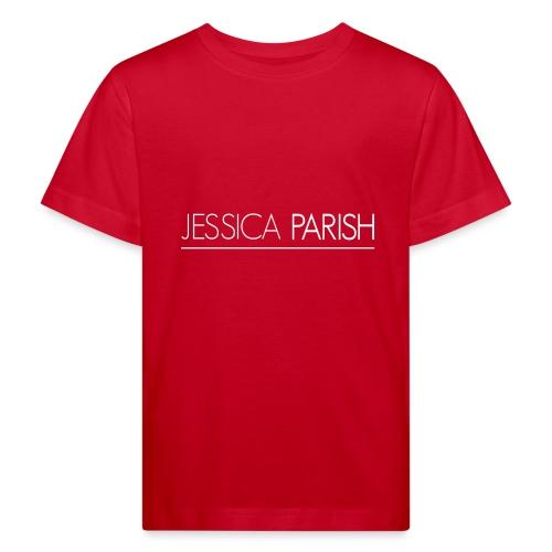 Jessica Parish Schriftzug weiß - Kinder Bio-T-Shirt