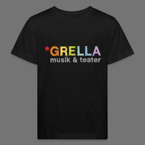 Grella musik & teater logotyp i färg - Ekologisk T-shirt barn