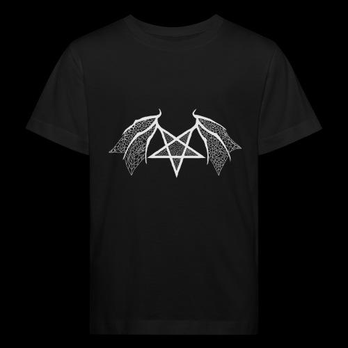 flügelpentagrammitstrukturhellgrau.png - Kinder Bio-T-Shirt
