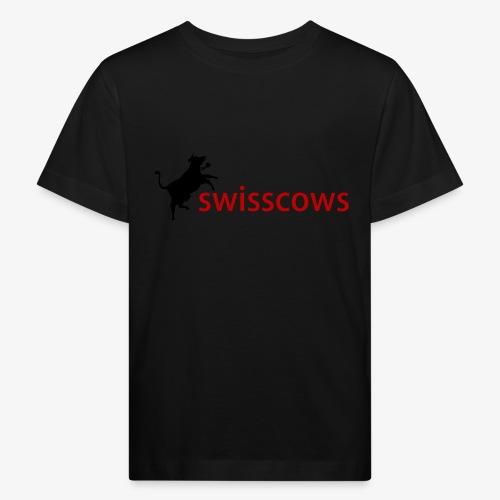 Schwarz-Rot Hoodie - Kinder Bio-T-Shirt