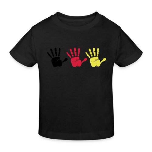 Handabdruck Trio - Kinder Bio-T-Shirt