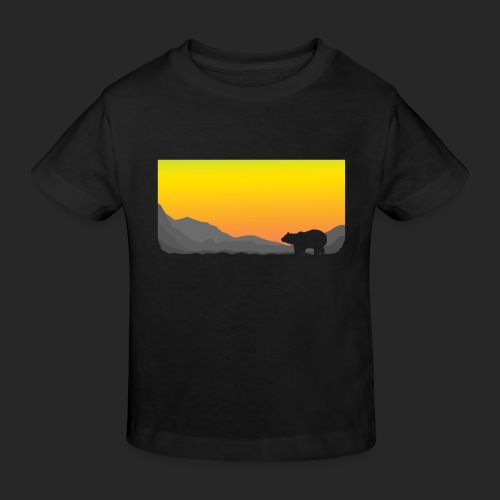 Sunrise Polar Bear - Kids' Organic T-Shirt
