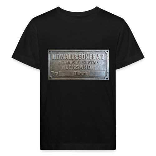 Tillverkningsskylt före 1967 - Ekologisk T-shirt barn
