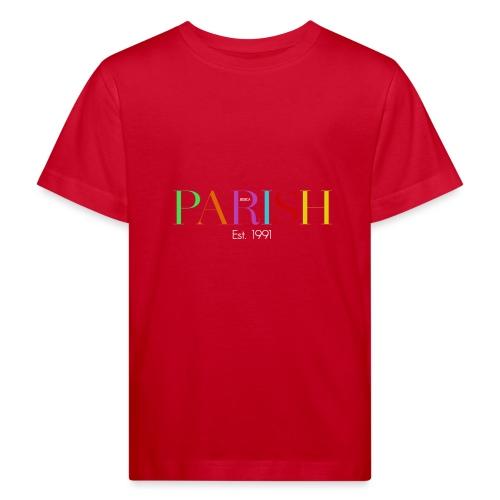 Jessica Parish Color-Schriftzug white - Kinder Bio-T-Shirt