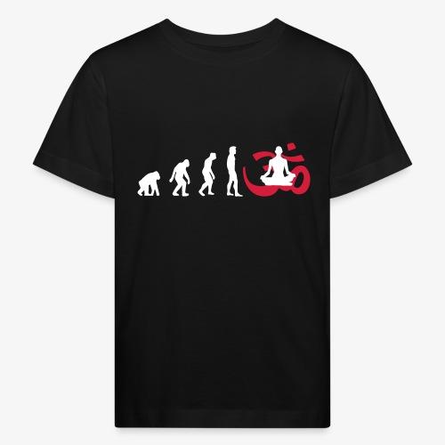 Evolution Yoga Buddhismus Meditation - Kinder Bio-T-Shirt