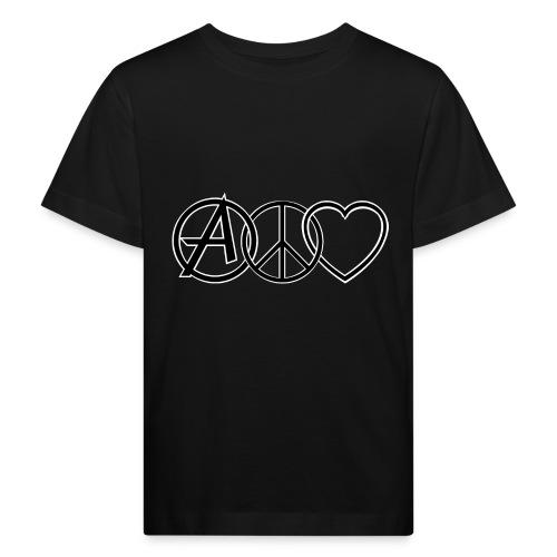ANARCHY PEACE & LOVE - Kids' Organic T-Shirt