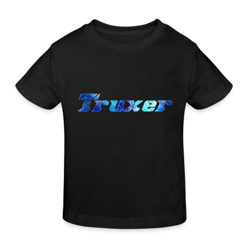 Truxer Name with Sick Blue - Kids' Organic T-Shirt