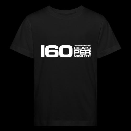 160 BPM (white long) - Kids' Organic T-Shirt