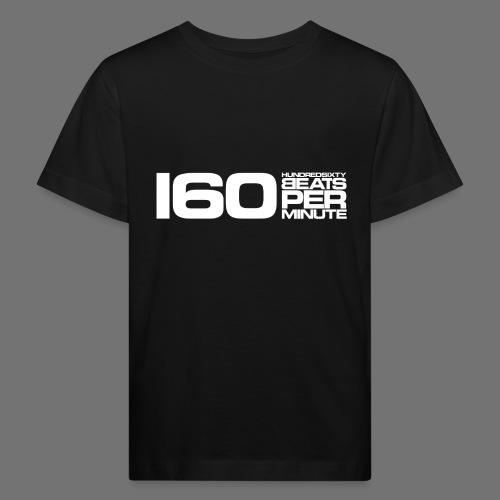 160 BPM (valkoinen pitkä) - Lasten luonnonmukainen t-paita