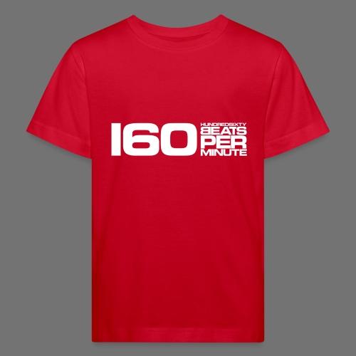 160 BPM (białe długie) - Ekologiczna koszulka dziecięca