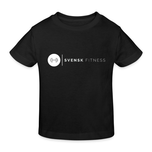 Linne med vit vertikal logo - Ekologisk T-shirt barn