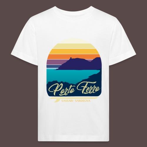 Porto Ferro - Vintage travel sunset - Maglietta ecologica per bambini