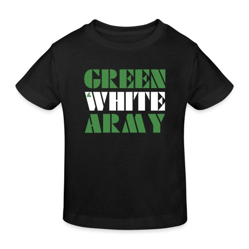 GREEN & WHITE ARMY - Kids' Organic T-Shirt