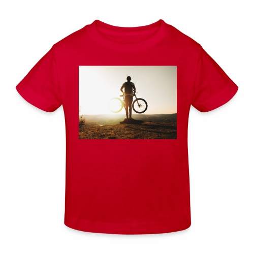 Mountain bike - Ekologisk T-shirt barn