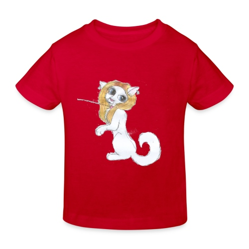 Comic Katze - Kinder Bio-T-Shirt