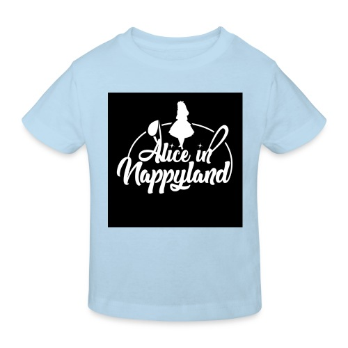 Alice in Nappyland TypographyWhite 1080 - Kids' Organic T-Shirt