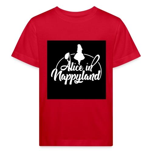 Alice in Nappyland TypographyWhite 1080 - Kids' Organic T-Shirt