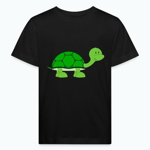 Totte Turtle - Appelsin - Ekologisk T-shirt barn
