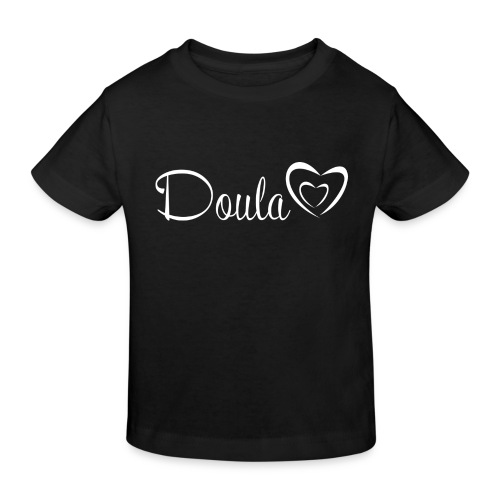 doula sydämet valkoinen - Lasten luonnonmukainen t-paita