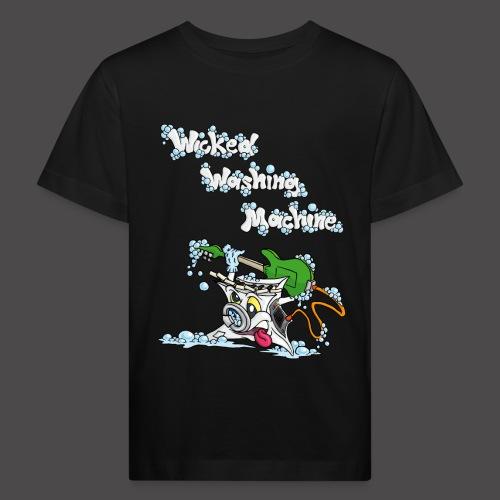 Wicked Washing Machine Cartoon and Logo - Kinderen Bio-T-shirt