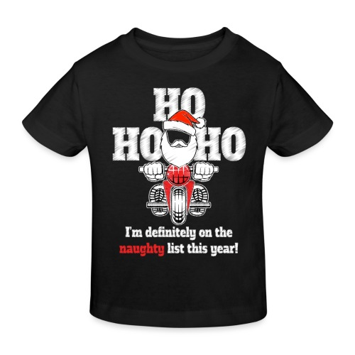 Biker's Naughty Christmas - Kids' Organic T-Shirt