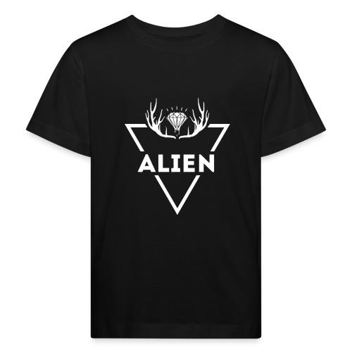 Alien - Hipster Logo Design - Økologisk T-skjorte for barn