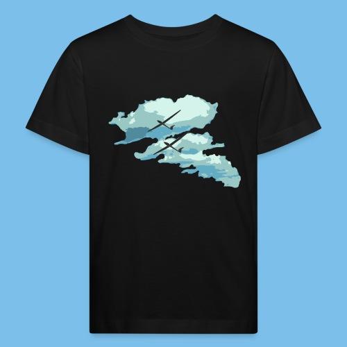 Wolken Segelflieger Geschenk Pilot Streckenflug - Kinder Bio-T-Shirt