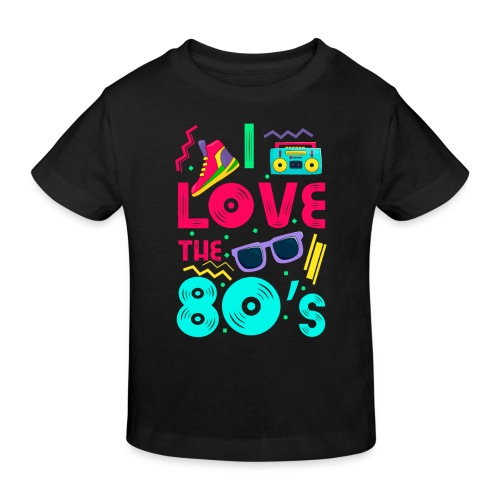 I love the 80s - cool and crazy - Kinder Bio-T-Shirt