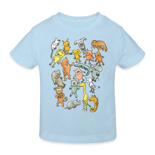 Farandole d'animaux - T-shirt bio Enfant