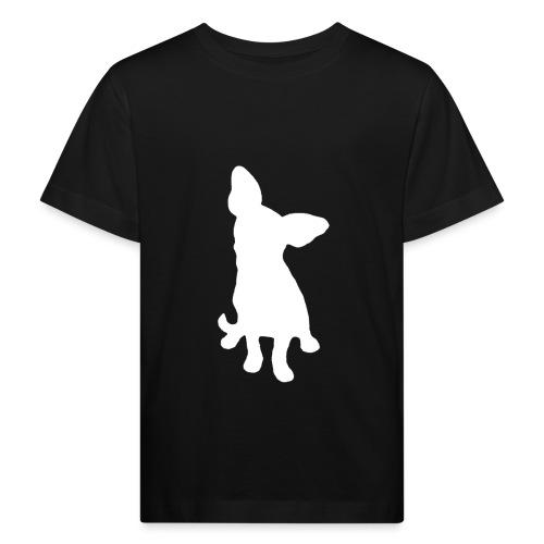 Chihuahua istuva valkoinen - Lasten luonnonmukainen t-paita