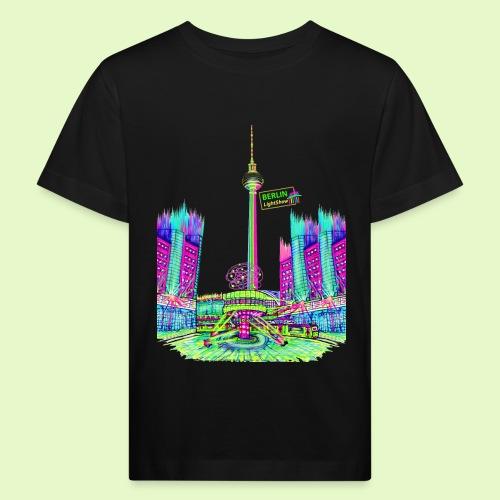 Berlin Alexanderplatz / BerlinLightShow /PopArt - Kinder Bio-T-Shirt