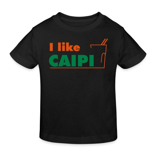 freizeit i like caipi kurve - Kinder Bio-T-Shirt