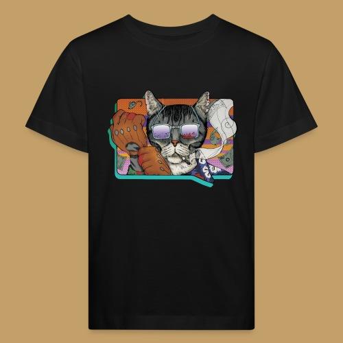 Crime Cat in Shades - Ekologiczna koszulka dziecięca