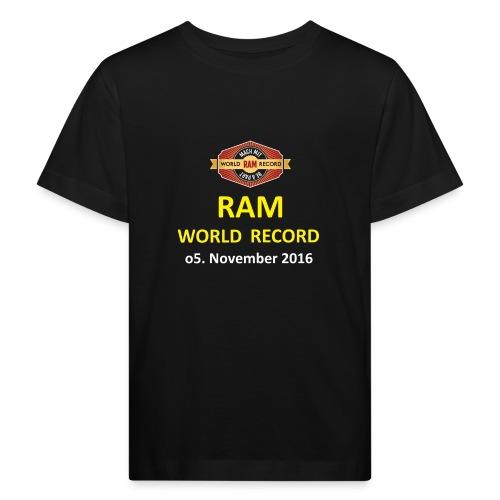RWR gelb mit Datum (weiß) - Kinder Bio-T-Shirt