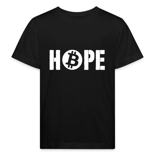 Black HOPE BTC - T-shirt bio Enfant