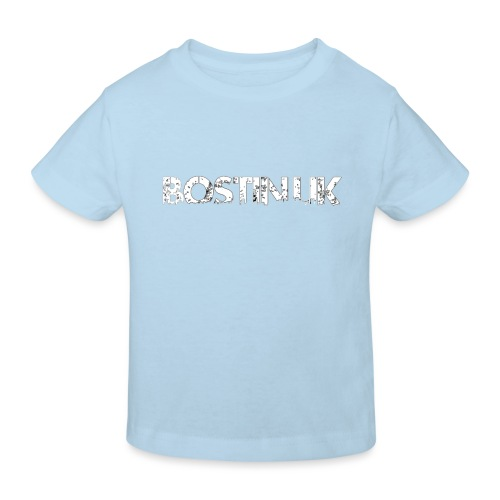 bostin uk white - Kids' Organic T-Shirt