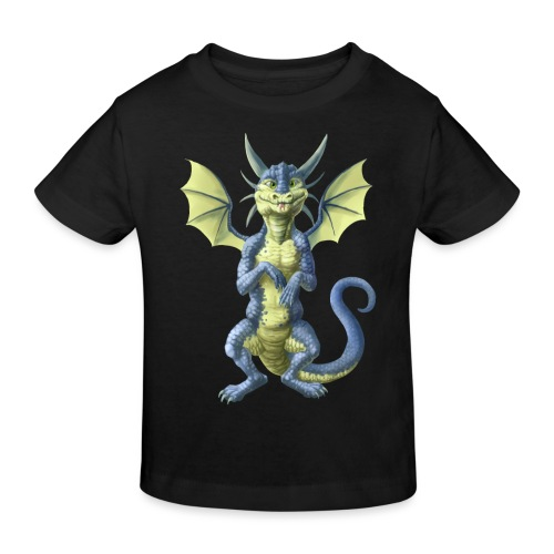 Kleiner blauer Drache - Kinder Bio-T-Shirt