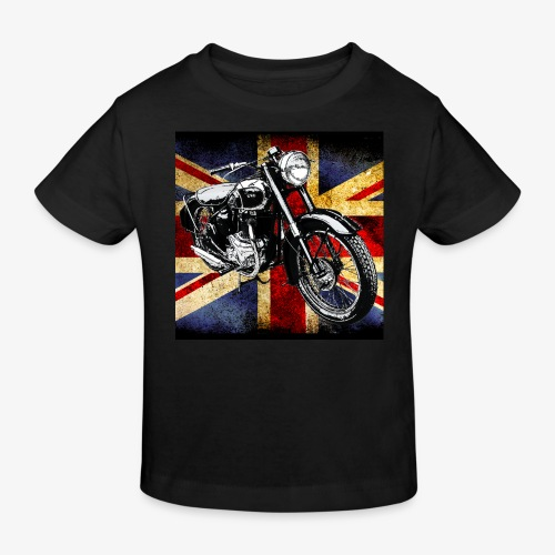 BSA motor cycle vintage by patjila 2020 4 - Kids' Organic T-Shirt